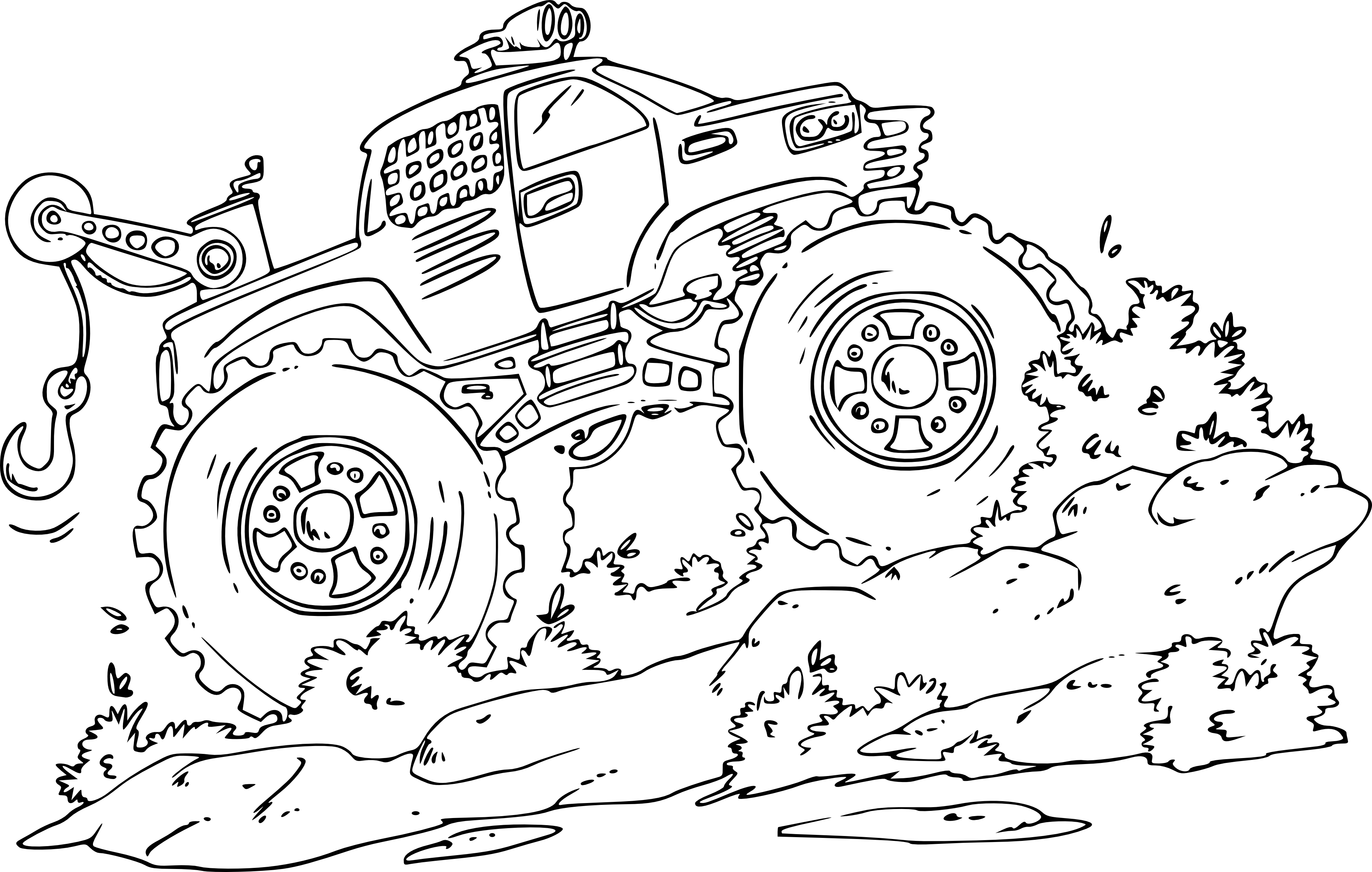 jeux de coloriage monster truck