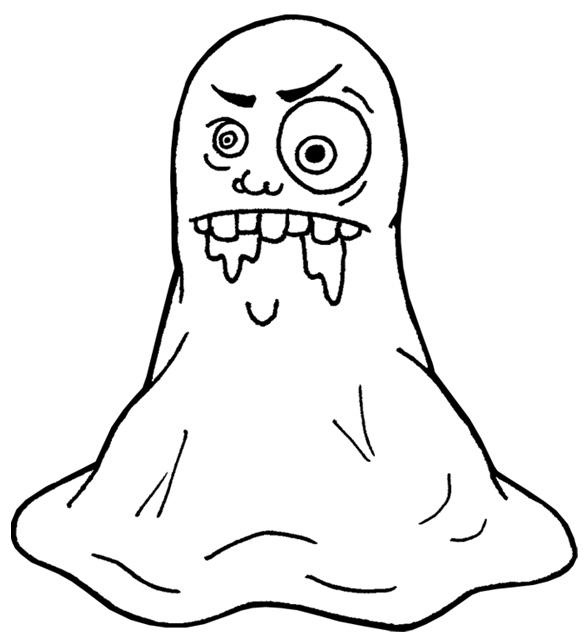 Coloriage dessiner de monstre qui font peur - Dessin d halloween qui fait peur ...
