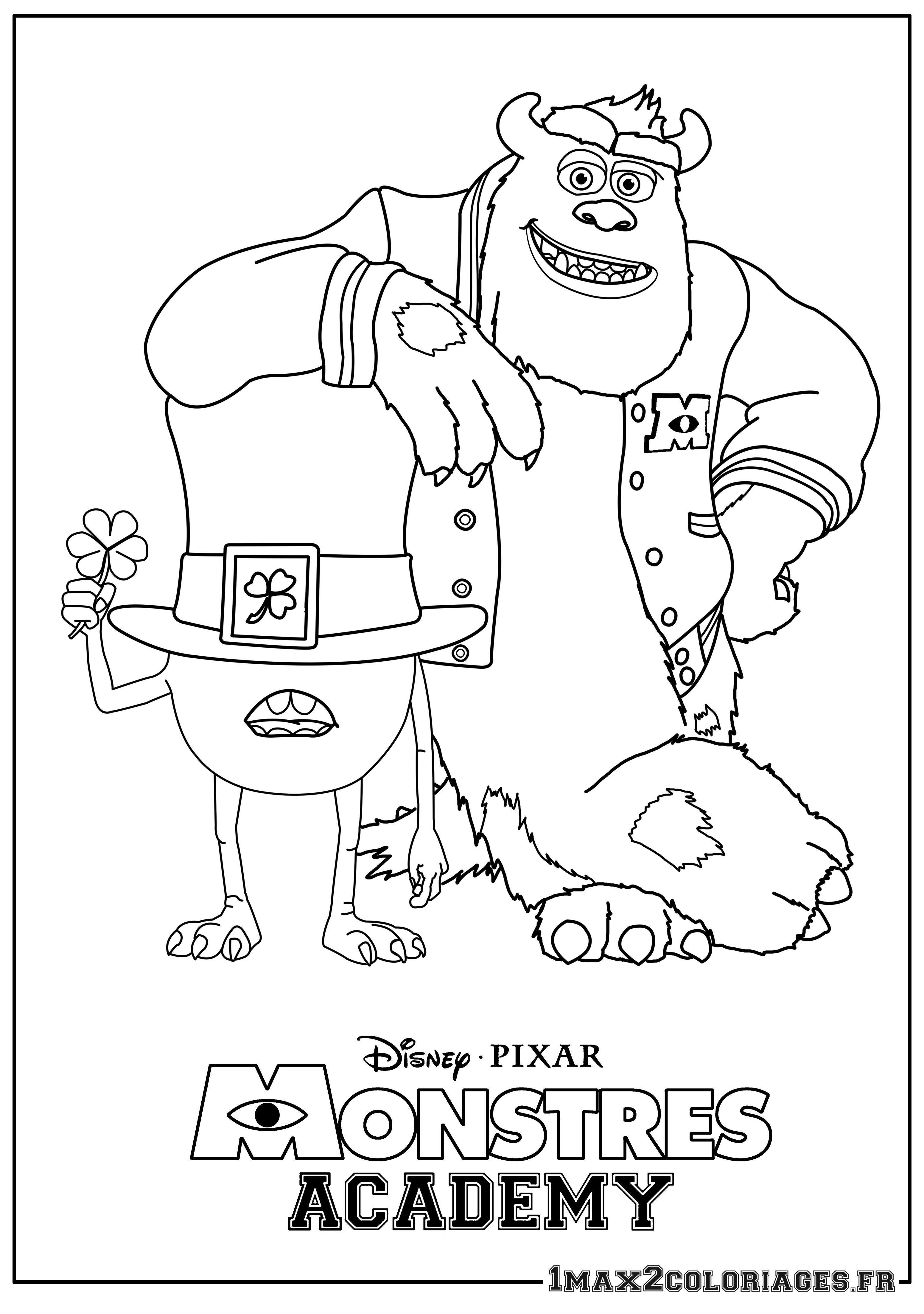 17 dessins de coloriage Monstres Academy A Imprimer à imprimer