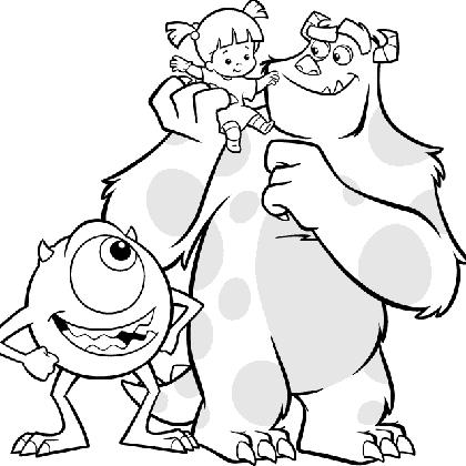 coloriage à dessiner gratuit monstres academy