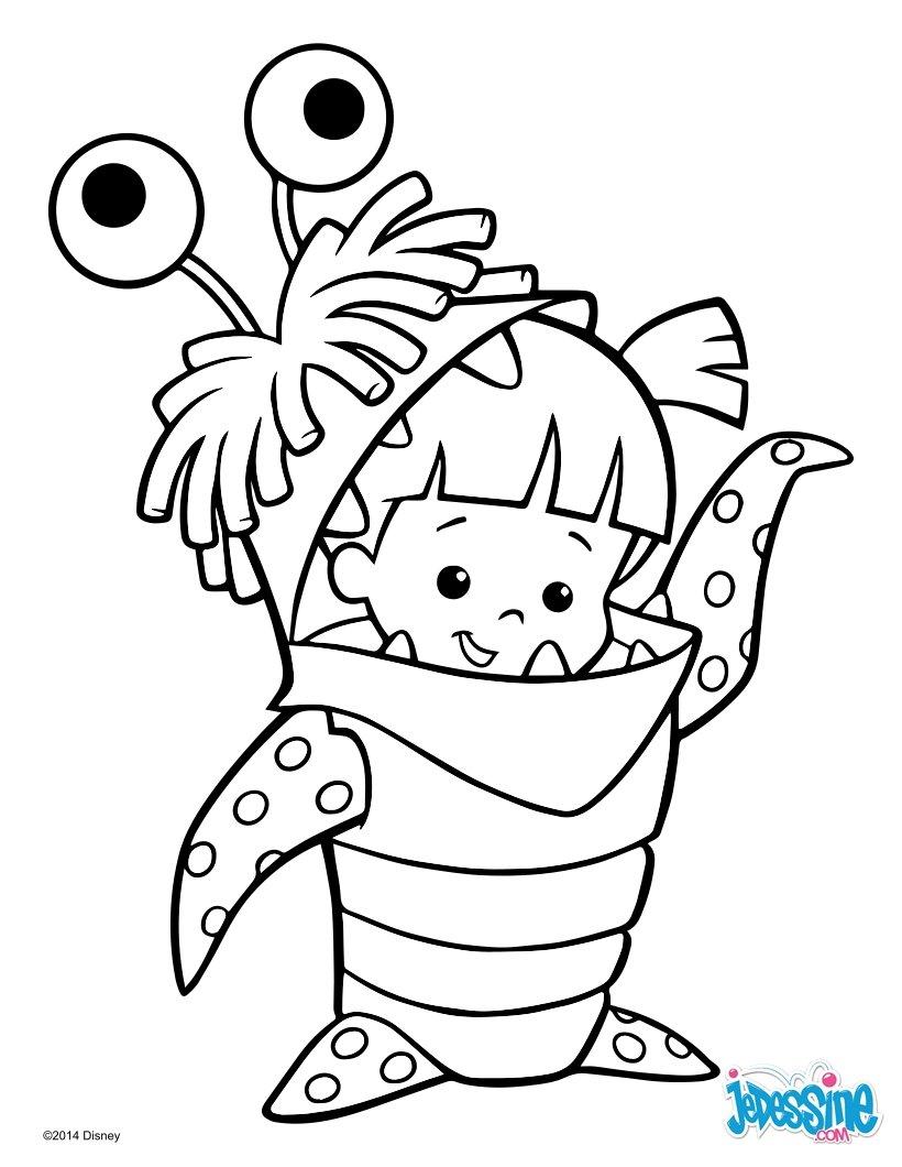 dessin monstres academy a imprimer