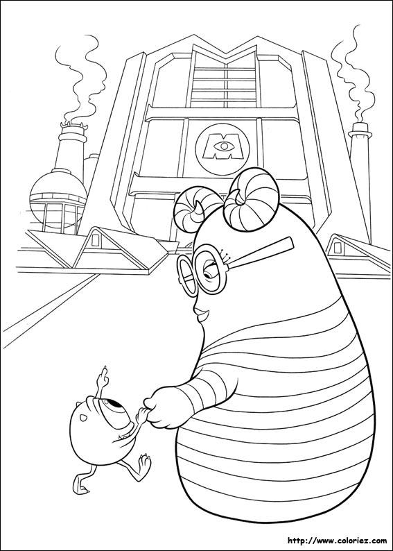 coloriage à dessiner monstres academy a imprimer