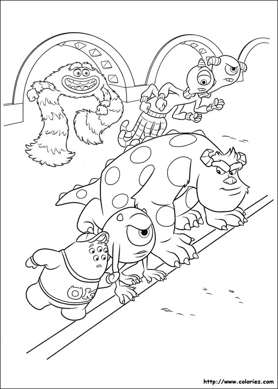 coloriage � dessiner monstres academy