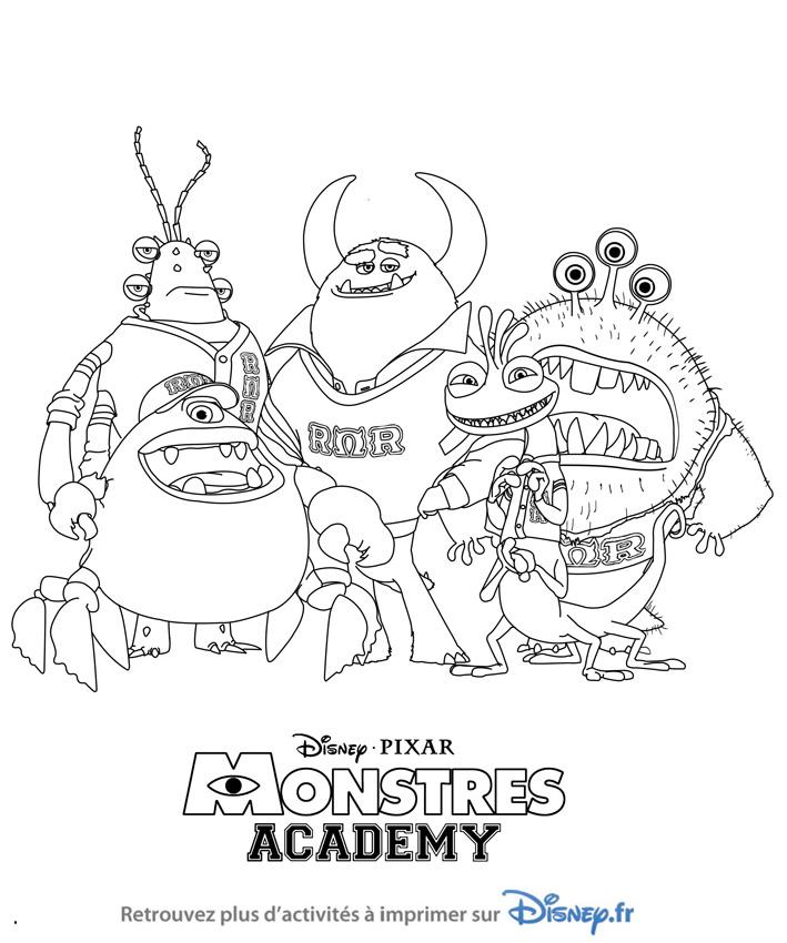 dessin à colorier monstres academy a imprimer