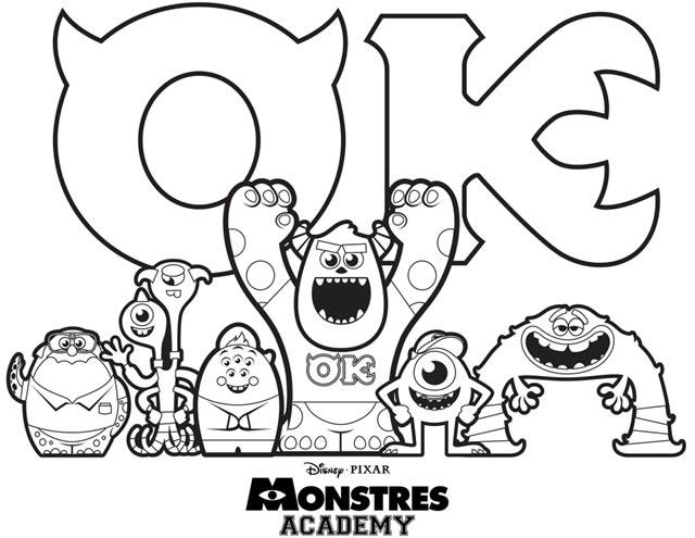 121 dessins de coloriage monstres academy imprimer - Coloriage monstre ...