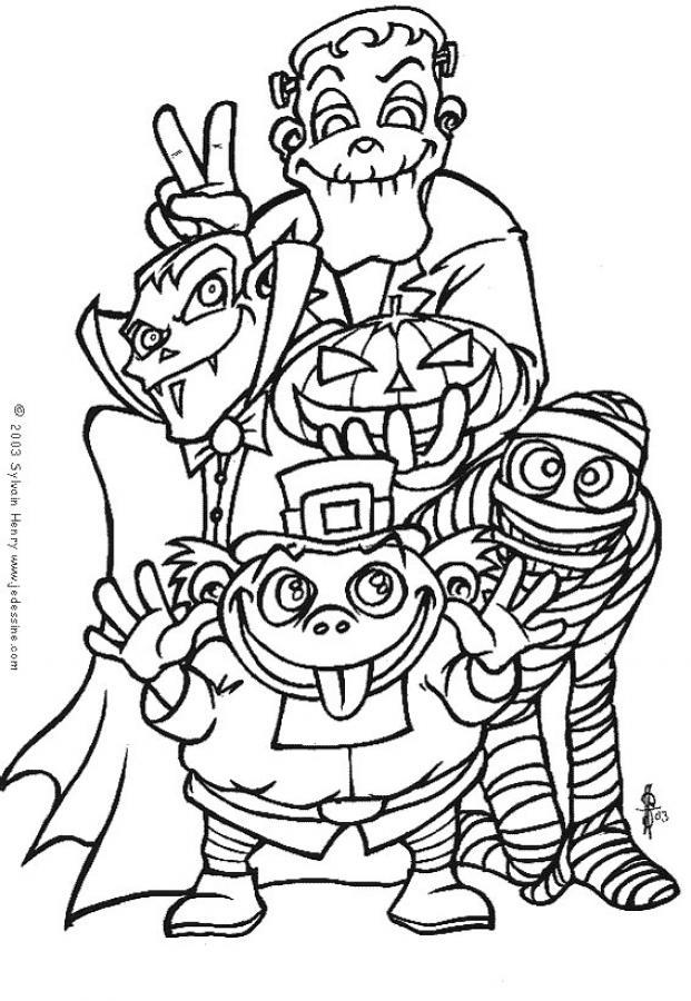 coloriage � dessiner bouh monstres-cie