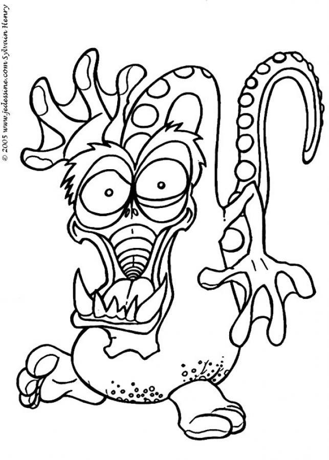 Coloriage dessiner monstre cie - Dessins monstres ...