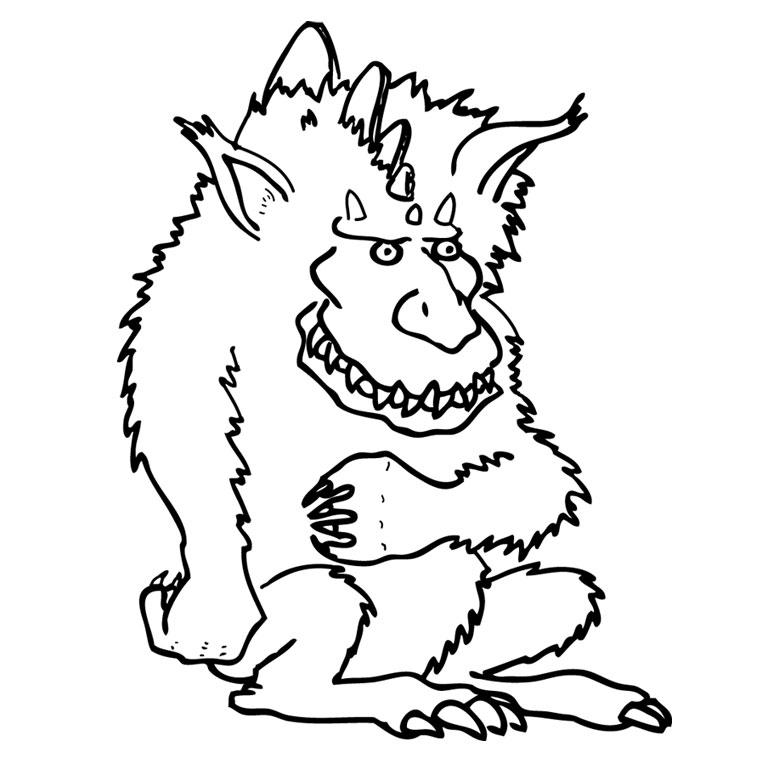 dessin � colorier monstres et compagnie 2