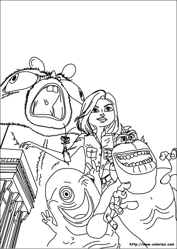 dessin � imprimer monstres contre aliens