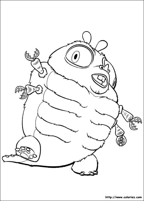 coloriage � dessiner monstres contre aliens