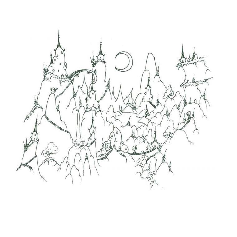 16 dessins de coloriage montagne t imprimer - Dessin de montagne ...