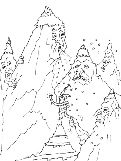 dessin montagne a imprimer gratuit