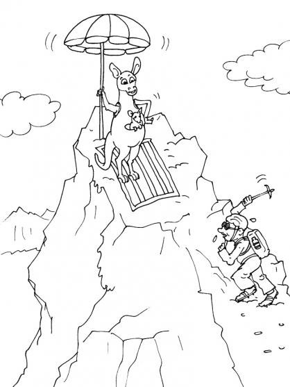 dessin montagne animaux