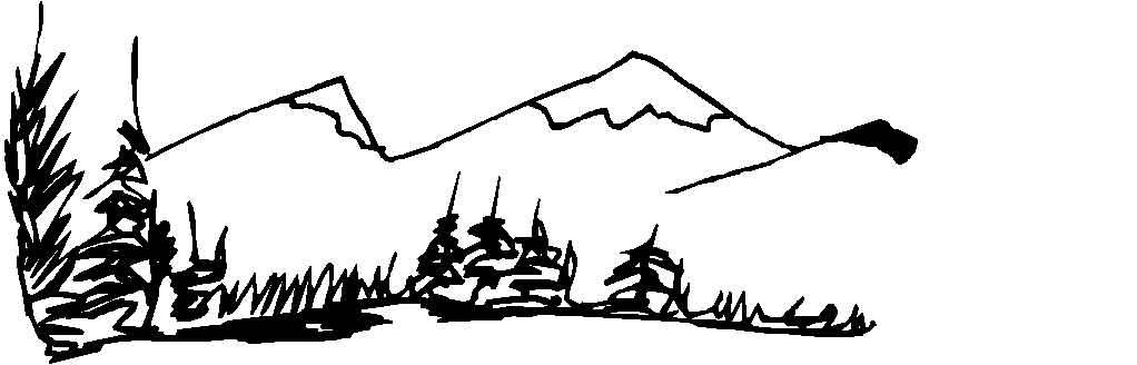 dessin à colorier montagne hiver