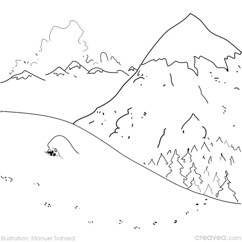 colorier la montagne