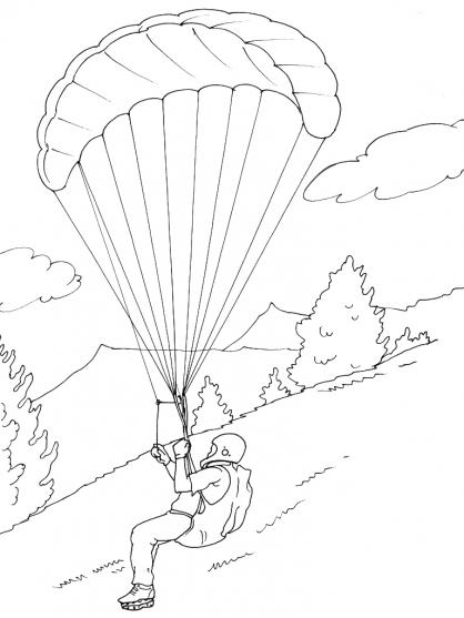 Coloriage animaux de la montagne gratuit - Parapente dessin ...