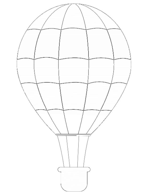 montgolfière dessin coloriage