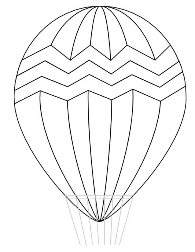 coloriage montgolfiere gratuit