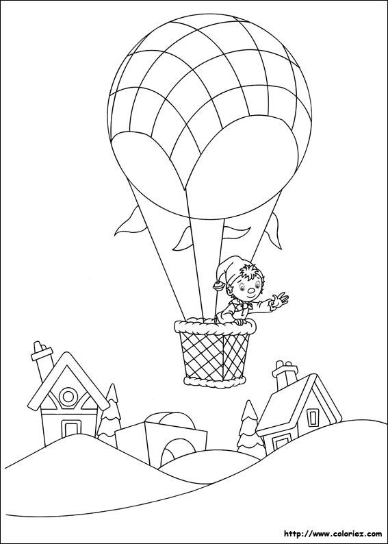 montgolfière dessin dessin à colorier