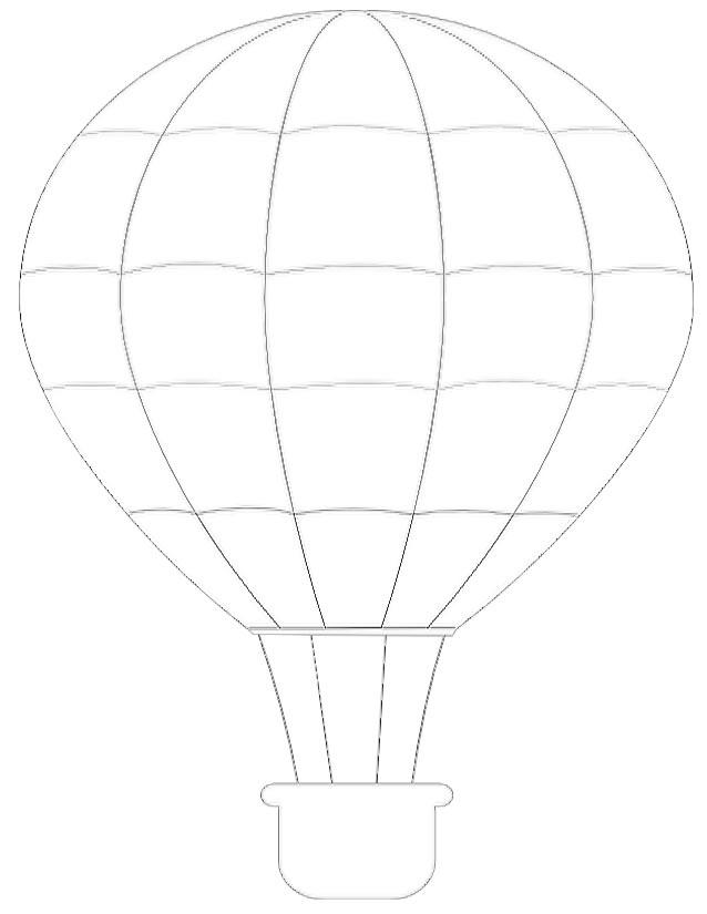 coloriage d'une montgolfière