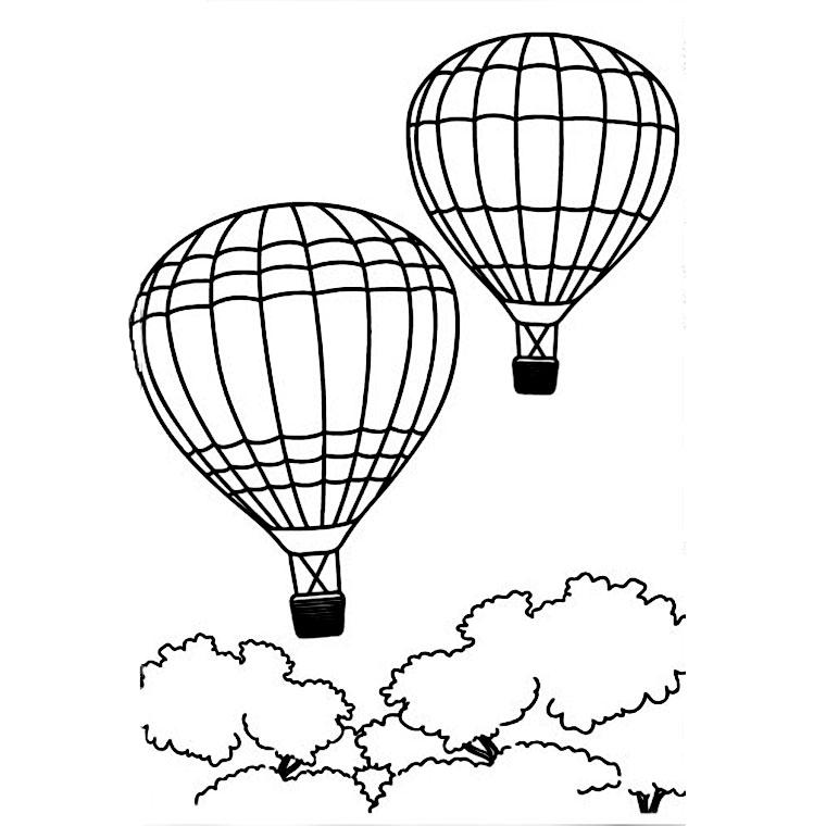 coloriage à dessiner montgolfiere imprimer