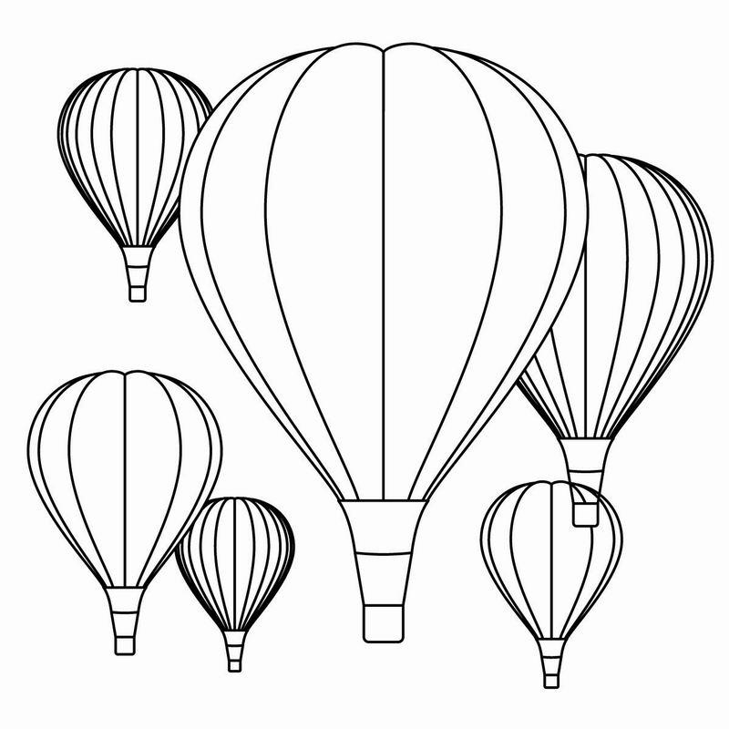coloriage à dessiner montgolfiere gratuit