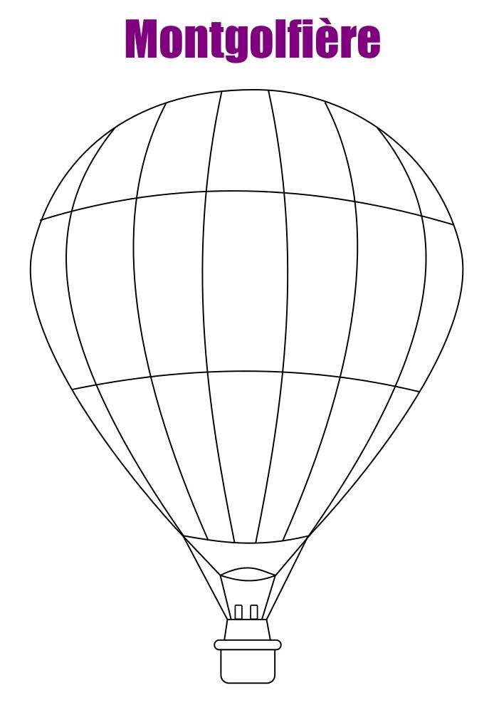 coloriage montgolfiere a imprimer