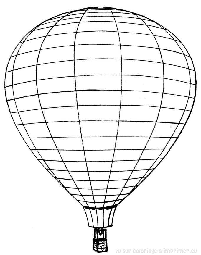 coloriage gratuit a imprimer montgolfiere