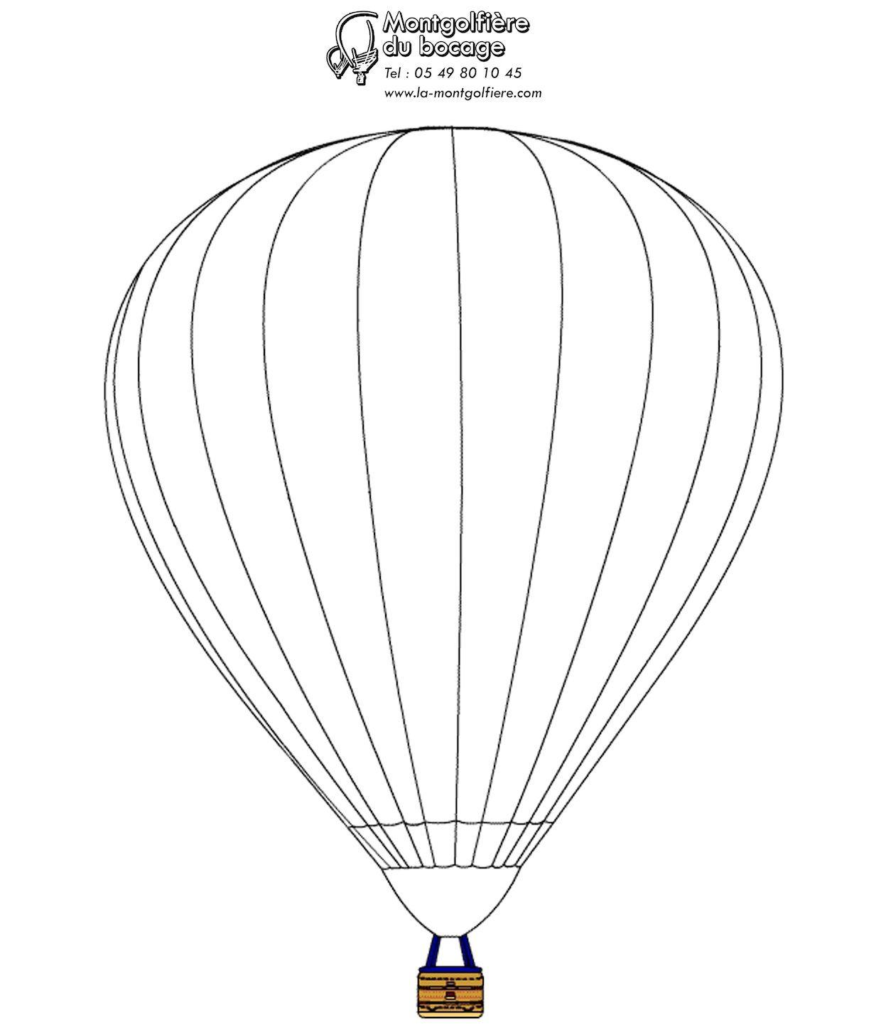 dessin de montgolfière