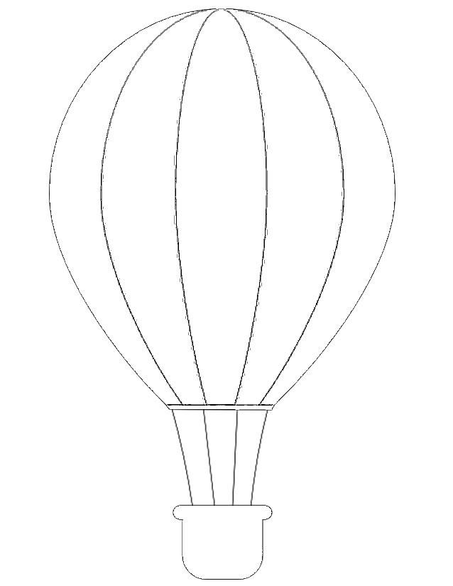 dessin à colorier montgolfiere en ligne