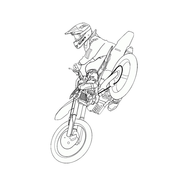 7 dessins de coloriage moto cross gratuit imprimer - Moto cross dessin ...