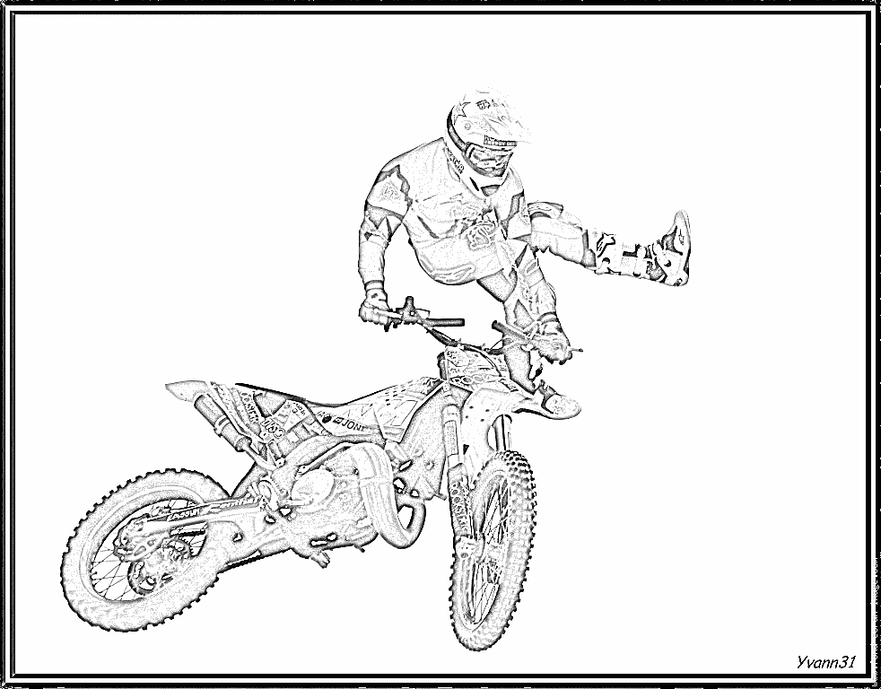 92 dessins de coloriage moto cross imprimer - Moto cross a colorier et imprimer ...