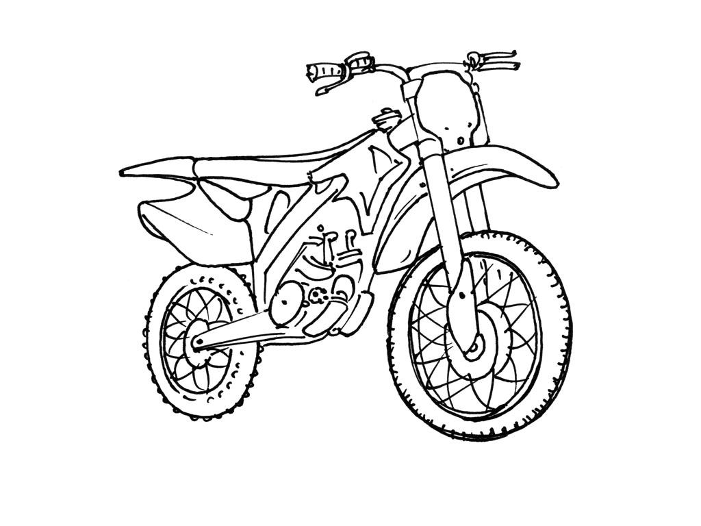 92 dessins de coloriage moto cross imprimer - Dessin de moto cross ...