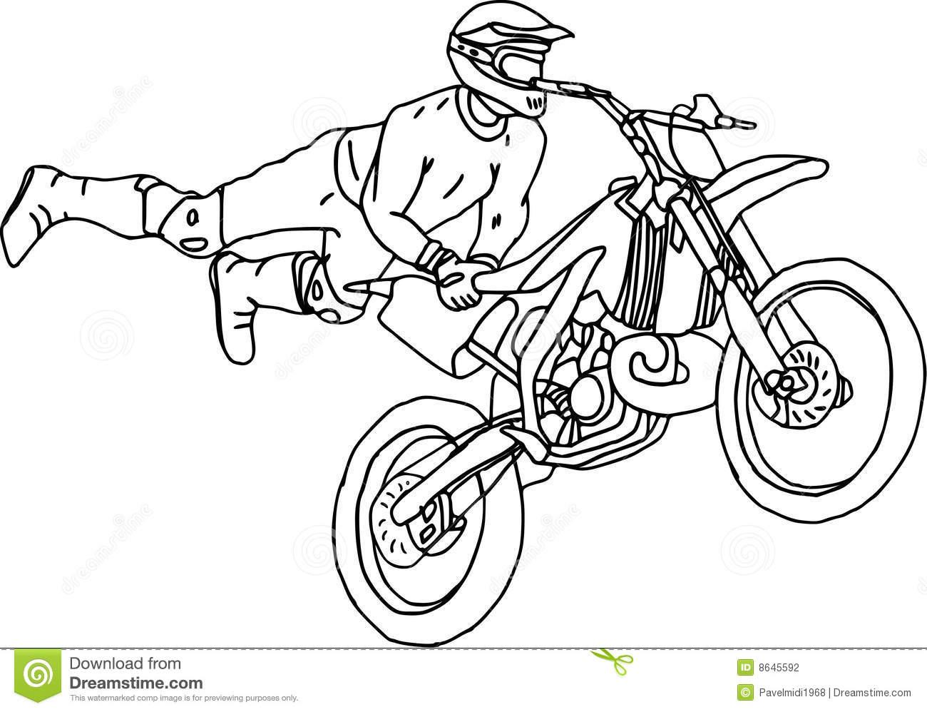 92 dessins de coloriage moto cross imprimer - Moto a colorier ...
