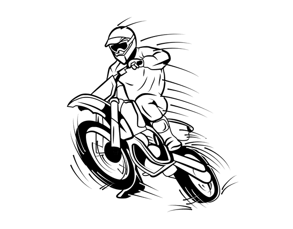 92 dessins de coloriage moto cross imprimer - Moto cross dessin ...