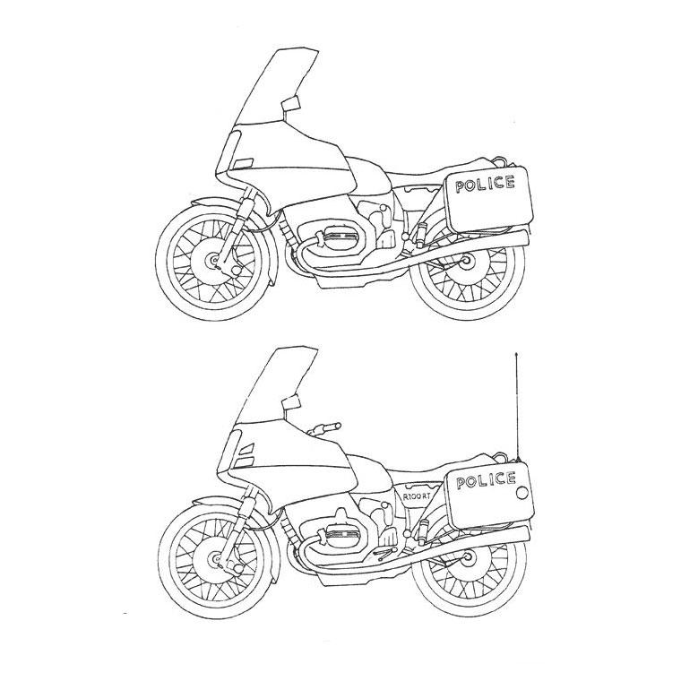6 dessins de coloriage moto de police imprimer - Police dessin ...