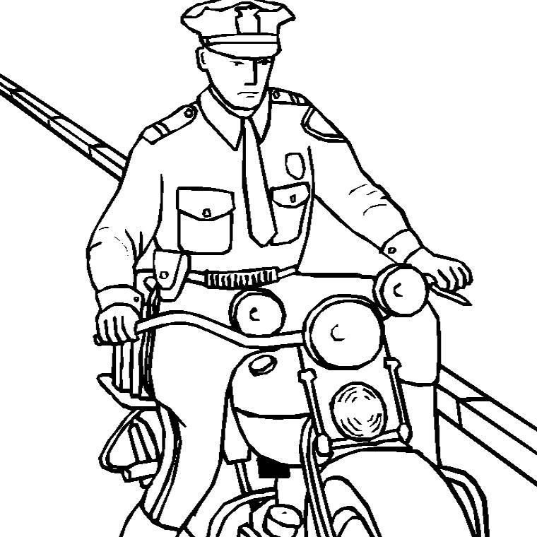 6 dessins de coloriage moto de police imprimer - Dessins de moto a colorier et imprimer ...