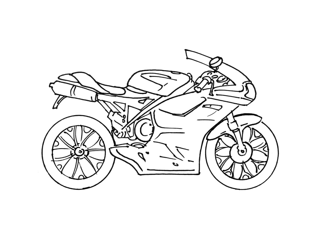 6 dessins de coloriage moto de police imprimer - Dessin de moto cross a colorier ...