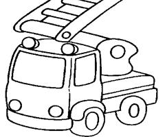 98 dessins de coloriage moto facile imprimer - Dessin pompier facile ...