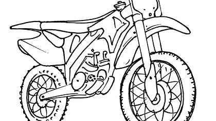 Dessin simple moto - Dessin de motocross ...