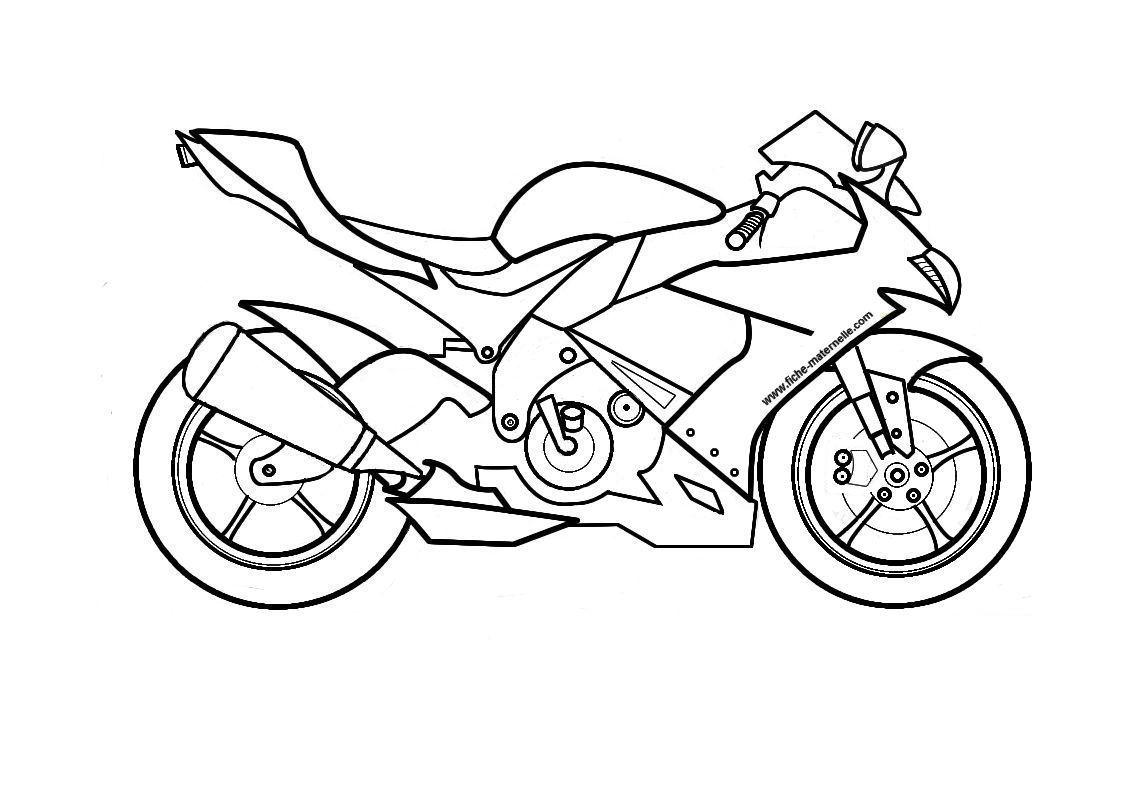 7 dessins de coloriage moto gp imprimer - Dessin moto sportive ...