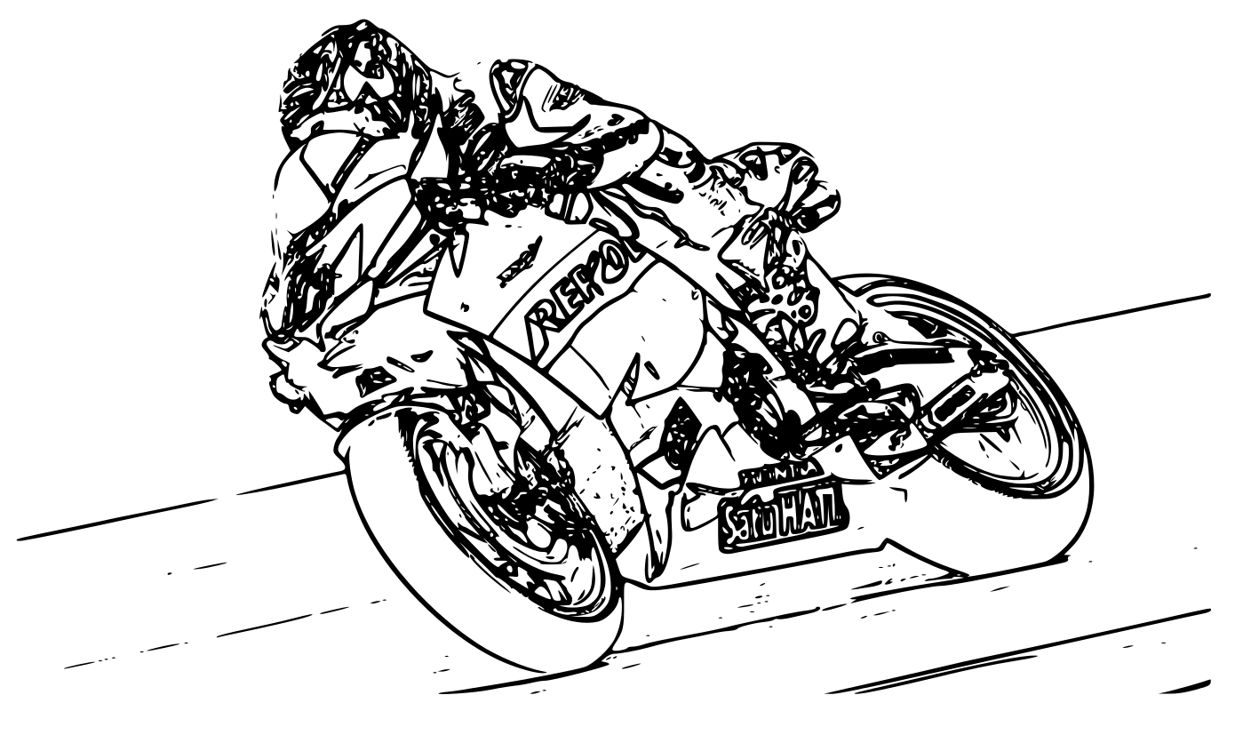 7 dessins de coloriage moto gp imprimer - Moto cross dessin ...