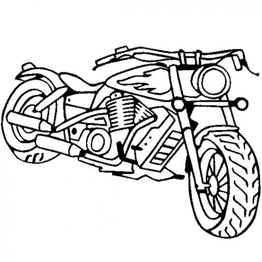 Coloriage De Moto Harley Davidson