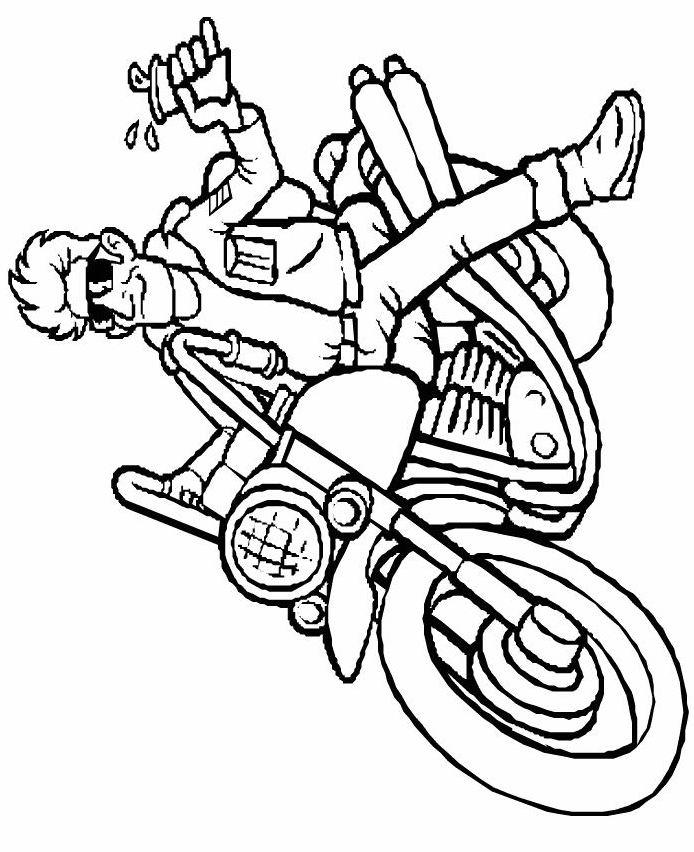 coloriage moto harley