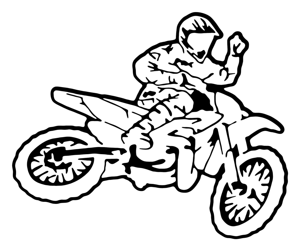 Monster motocross race coloring pages coloring pages - Moto cross dessin ...