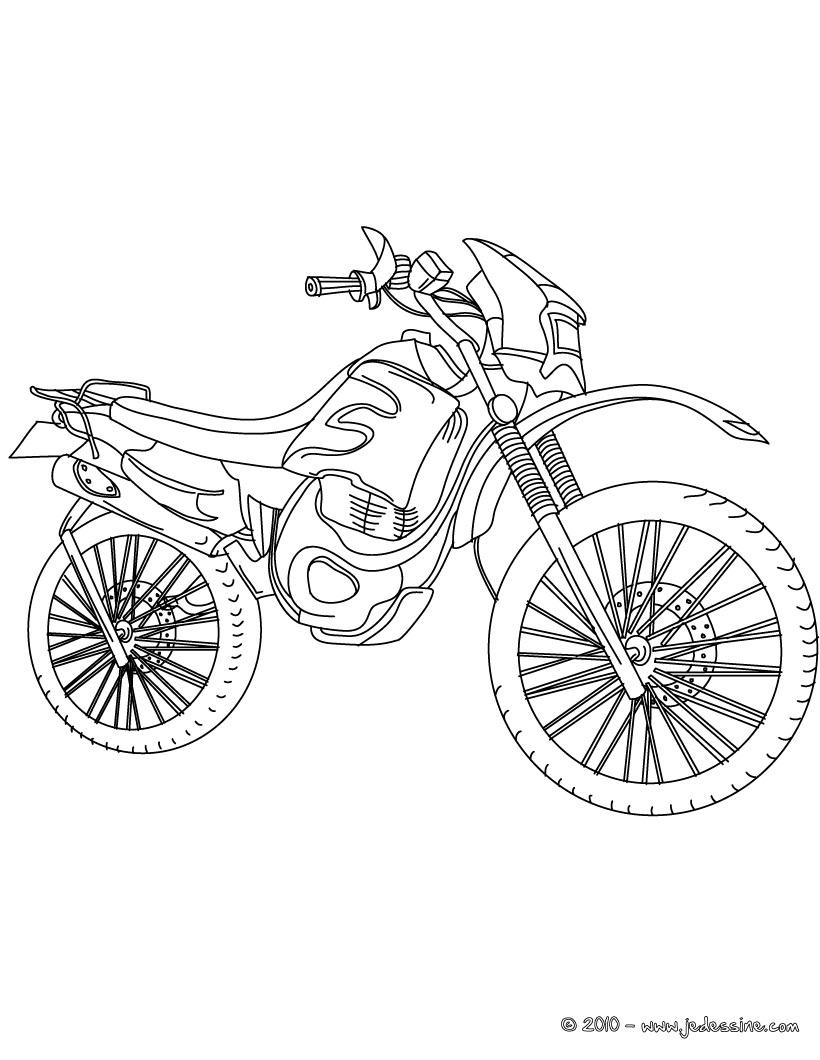 98 dessins de coloriage moto police  u00e0 imprimer
