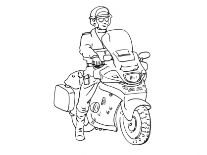 98 dessins de coloriage moto police imprimer - Police dessin ...