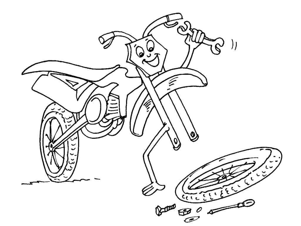 11 dessins de coloriage moto tuning imprimer - Dessin a colorier moto kawasaki ...