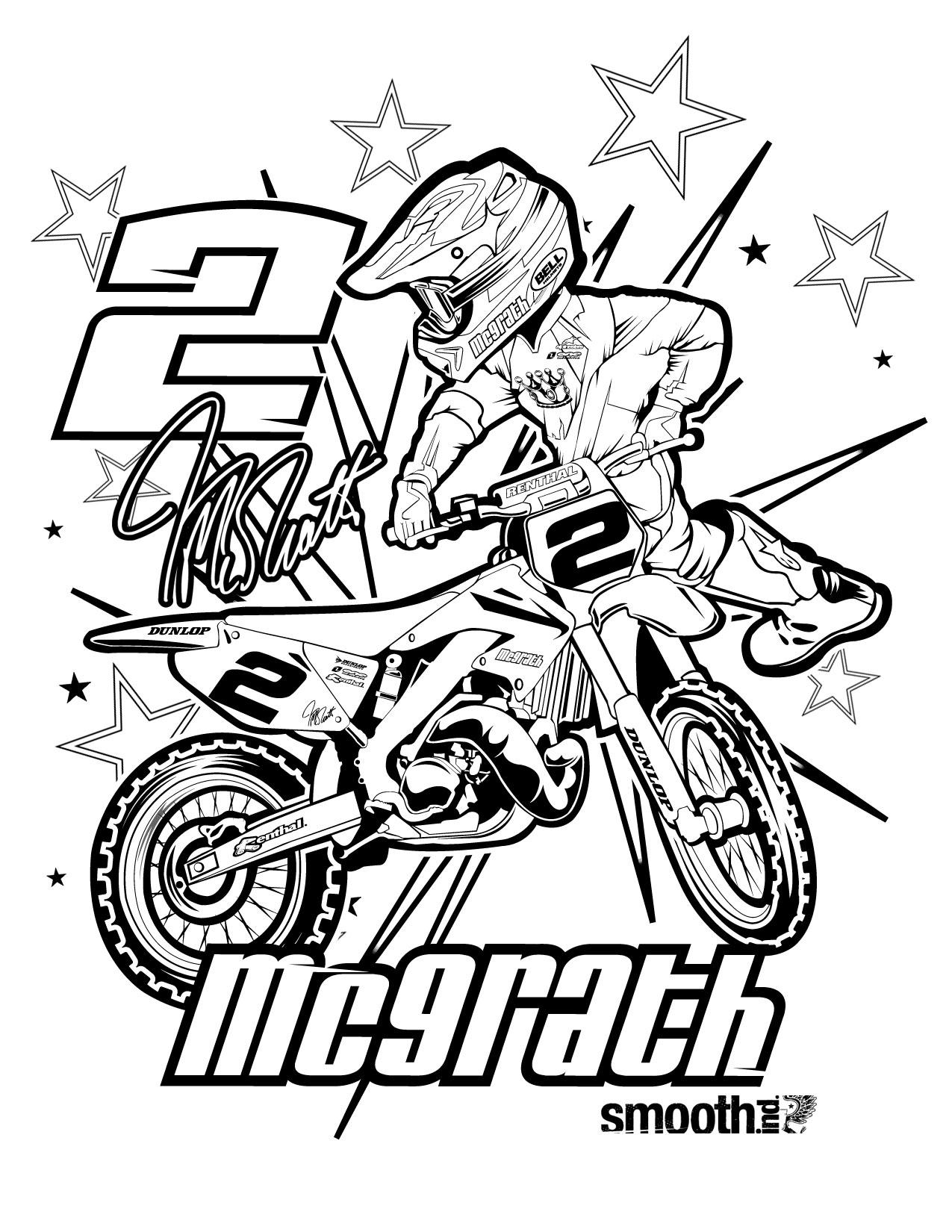 dessin moto en ligne