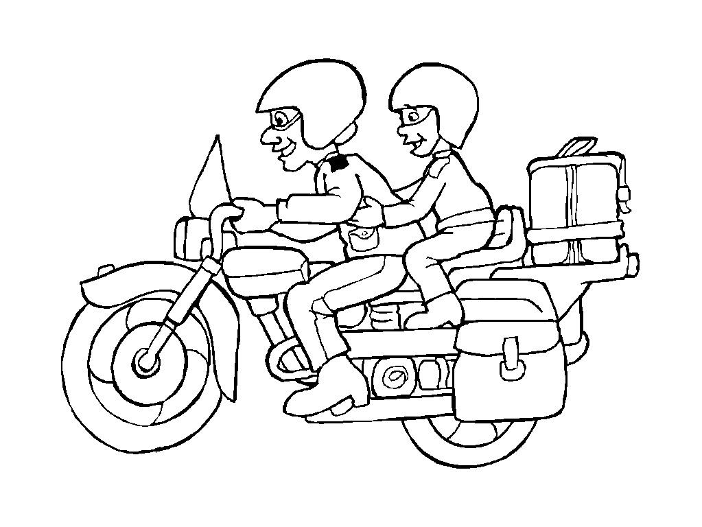 dessin à colorier moto cross yamaha